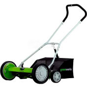 "GreenWorks™ 20"" Manual Push Reel Mower, W/ 9 Cutting Heights"