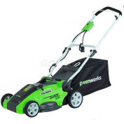 """GreenWorks™ 16"""" 10A Corded 2-in-1 Lawn Mower, W/ 5 Cutting Heights"""