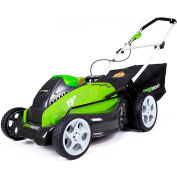"""GreenWorks™ 25223 G-MAX Cordless 19"""" 40V Lawn Mower Kit, W/ 2Ah Battery & Charger"""