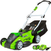 "GreenWorks® 25322 G-MAX 40V 16"" Cordless Push Lawn Mower Kit W/ 4.0 Ah Battery & Charger"