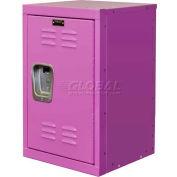 """Hallowell HKL1515(24)-1BG Kid Mini Locker, 15""""W x 15""""D x 24""""H, Bubble Gum Pink"""