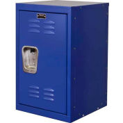 """Hallowell HKL1515(24)-1GS Kid Mini Locker, 15""""W x 15""""D x 24""""H, Grand Slam Blue"""