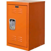 "Hallowell HKL1515(24)-1HP Kid Mini Locker, 15""W x 15""D x 24""H, Hoop Orange"