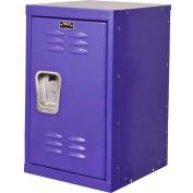 """Hallowell HKL1515(24)-1PR Kid Mini Locker, 15""""W x 15""""D x 24""""H, Pep Rally Purple"""