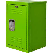 "Hallowell HKL1515(24)-1SA Kid Mini Locker, 15""W x 15""D x 24""H, Sour Apple Green"