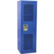 """Hallowell HTL151548-1GS Ventilated Home Team Locker Unassembled 15""""W x 15""""D x 48""""H - Grand Slam"""