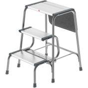 Hailo Retro 2-In-1 Step Stool/Ladder Gray/Black - 4353-001