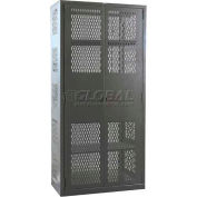 Hallowell HW4VSC6478-4CL 14 Gauge Extra Heavy-Duty Galvanite DuraTough Ventilated Cabinet, 36x24x78