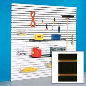 "48"" x 96"" Slatwall Panel - Black HPL, With Aluminum Inserts - Pkg Qty 4 - Pkg Qty 4"