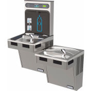 Halsey Taylor Bi-Level HydroBoost Water Refilling Station W/Filter, Light Gray, HTHB-HAC8BL-WF-PV