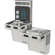 Halsey Taylor Bi-Level HydroBoost Water Refilling Station W/Filter, Stainless, HTHB-HAC8BL-WF-SS