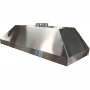 "HEMCO® Wall Canopy Hood, Stainless Steel, 48""W x 30""D x 18""H"