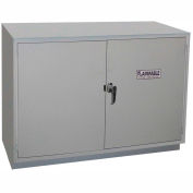 """HEMCO® Solvent/Flammable Cabinet, 30""""W x 22""""D x 35-1/4""""H, 2 Doors, White"""