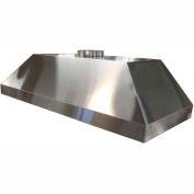 "HEMCO® Island Canopy Hood, Stainless Steel, 72""W x 30""D x 18""H"