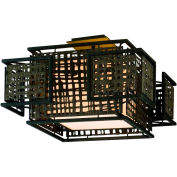 Corbett Lighting, 105-32, Shoji 2 Light Semi-Flush