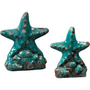 Sterling Industries, 119-043/S2, Set Of 2 Ceramic Star Fish