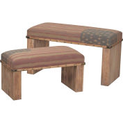 Sterling Industries, 138-082/S2, National-Set Of 2 Wooden Benches