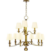 Hudson Valley,1419-AGB-WS,9 Light Chandelier