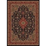 "Concord Global, 20838, Medallion Kashan Black 9' 3""X 12' 10"""