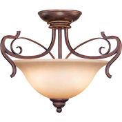 Jeremiah Lighting, 21722-AGT, 2-Light Semiflush