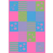 Concord Global, 23605, Patchwork Multi 5' x 7'