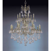 Crystorama, 2724-OB-CL-S, Ornate Cast Brass Chandelier Accented W/Swarovski Elements Crystal