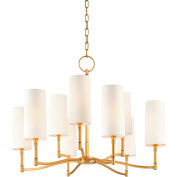 Hudson Valley,369-AGB,9 Light Chandelier