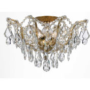 Crystorama,4457-GA-CL-S,Clear Hand Cut Crystal Ceiling Mount