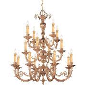 Crystorama, 490-OB, Ornate Cast Brass Chandelier