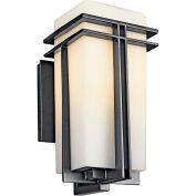 Kichler Lighting, 49201BKFL, Outdoor Wall Lantern 1 Lt. Fluor
