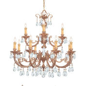 Crystorama, 499-OB-CL-S, Ornate Cast Brass Chandelier Accented W/Swarovski Elements Crystal