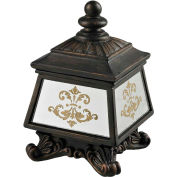 Sterling Industries,87-8002,Bronze Box W/Damask Printed Mirror