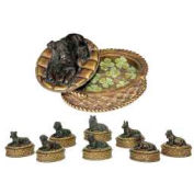 Sterling Industries, 91-1797, Set/8 Lucky Dog Boxes