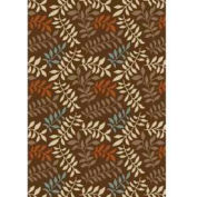 Concord Global, 97887, Leafs Brown 7' 10 x 10' 6