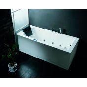 """Ariel Bath,AM154JDTSZ-L-59,Ariel Platinum Am154 59"""" L Whirlpool Bathtub 59X30X25"""