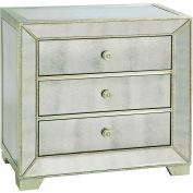 Bassett Mirror Co, T2624-990EC, Murano Three-Drawer Chairside Chest