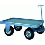 Hamilton® Fifth Wheel Steel Wagon Truck 30 x 48 Mold-on Rubber Wheels