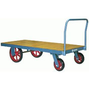 Platform Truck 36x72 Wood Deck Moldon Rubber Wheels 4000 lbs