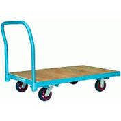 Platform Truck 36x72 Wood Deck 6x2 Polylast Wheels 2000 lbs