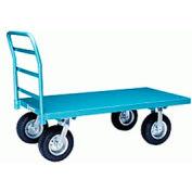 Steel Platform Truck 24x48 Pneumatic Wheels 2000 lbs