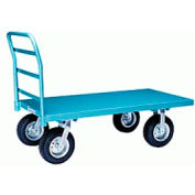 Steel Platform Truck 30x48 Pneumatic Wheels 2000 lbs