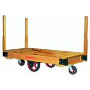 Hamilton Tilt Truck 30x48 Solid Wood Plastex Wheels 1500 lb. Capacity