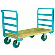 Platform Truck 30x60 8x2 Solid Wood Plastex Wheels 1000 lbs