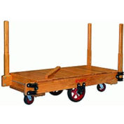 Hamilton® Tilt Truck 36 x 72 Solid Wood - Mold-on Rubber Wheels 2200 Lb. Cap.