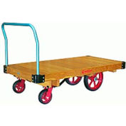 Platform Truck 36x60 Solid Wood Plastex Wheels 4000 lbs