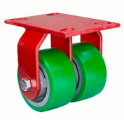 Heavy Service 4-1/2x6-1/2 Rigid 5x2 Plastex Roller 2000lb Dual Caster