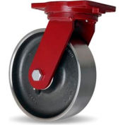 Extra HD Forged 6-1/8x7-1/2 Swivel 10x3 Forged Tapered 5000lb Caster