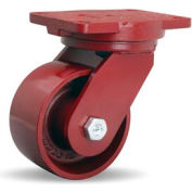 Extra HD Forged 6-1/8x7-1/2 Swivel 6x3 Metal Ball 2500lb Caster