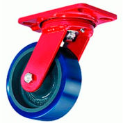 Extra Heavy Service 4-1/2x6-1/2 Swivel 8x2 Metal Ball 1500lb Caster