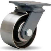 Ext Service Forged 4-1/2x6-1/2 Swivel 6x3 Forged Ball 2400lb Caster